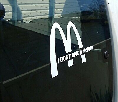 AU6.50 • Buy Funny Mcdonalds Decal Sticker 15cm X 10cm  Car Ute Jdm Drift Hoon