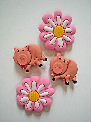 £7.07 • Buy Shoe Charm Button Plug Pin Compatible W/ Crocs Shoes Flower Pig For Wristband