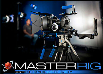 £493.35 • Buy Master Rig Pro DSLR Camera VIDEO Support System WITH ROLLING CASE!
