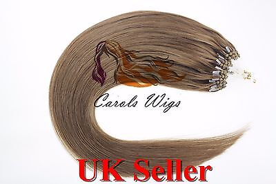 £70 • Buy 18  1g 8A* Double Drawn Loop Micro Ring Russian Remy Human Hair Extensions UK