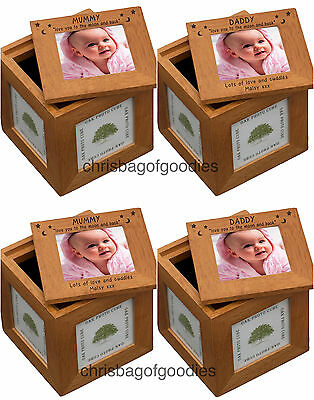 PERSONALISED MUMMY DADDY Love You To The Moon And Back PHOTO CUBE Gifts For My I • 20.50£