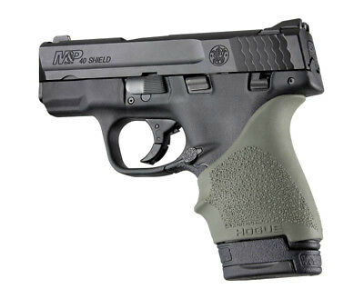 $11.97 • Buy Hogue HANDALL S&W M&P Shield/Ruger LC9 Beavertail Grip Sleeve-OD Green-18401