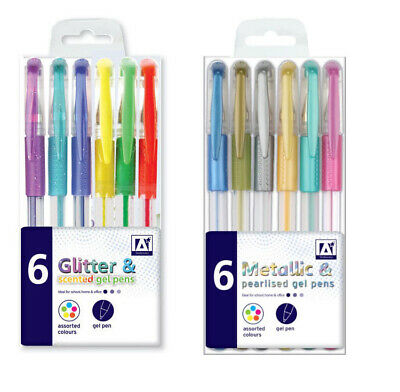 Colour Gel Pens Set Glitter Scented Metallic Ink Ballpoint Craft • 2.49£