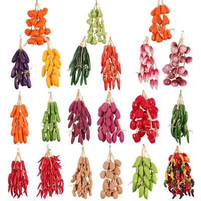 5Pcs Artificial Fake Pepper Colorful Chili String Home Hanging Decoration PICK • 8.85£