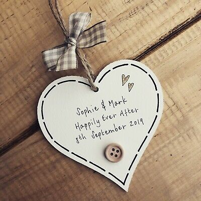 £6.49 • Buy Wedding Gifts Keepsake Plaque Wooden Bridal Christmas Favour Sign Personalised