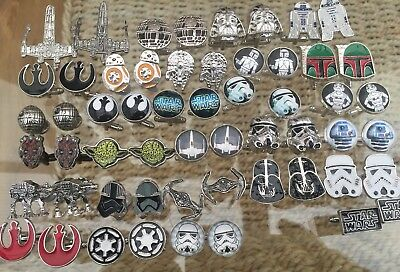 Star Wars Novelty Cufflinks Yoda Bb8 R2d2 Stormtroopers Darth + More Mens Gift. • 3.45£