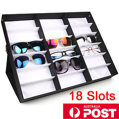 AU31.85 • Buy AU 18 Slots Sunglasses Display Counter Stand Storage Rack Cabinet Organizer Case
