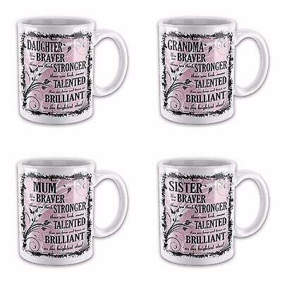 £7.99 • Buy You Are Braver Than You Think, Stronger Than You Look Novelty Gift Mug - Female
