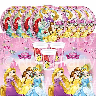 DISNEY PRINCESS Girls Birthday Party Tableware Plates Cups Napkins Tablecover • 1.34£