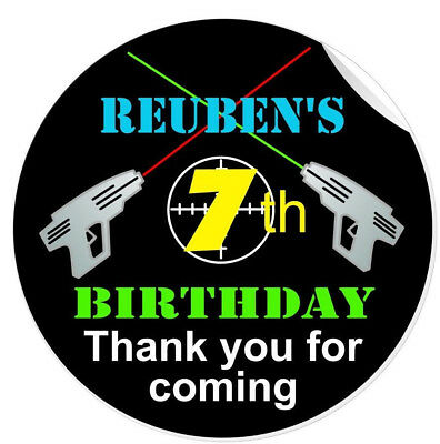 £2.75 • Buy Personalised Laser Tag Quest Game Party Birthday Party Stickers Thank You Labels
