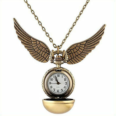 $ CDN5.94 • Buy Harry Potter Snitch Pocket Watch Pendant Necklace Steampunk Quidditch Clock
