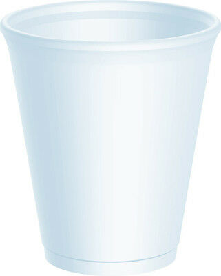 100 X Dart 8oz Strong Foam Polystyrene Cups Disposable For Hot / Cold Drinks • 8.95£
