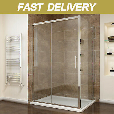 Sliding Shower Enclosure And Tray&Waste+Side Panel 8mm Easy Clean Cubicle Door • 216.99£
