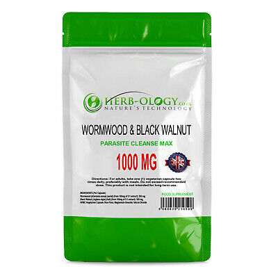 Wormwood Capsules Black Walnut Complex 1000mg Parasite Cleanse Extract Supplemen • 9.99£