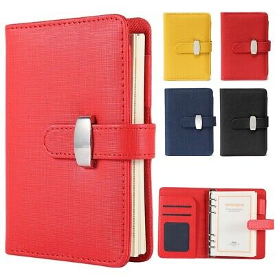 £10.79 • Buy Diary Notebook Personal Pocket Organiser Planner PU Leather Filofax Cover 3 Size