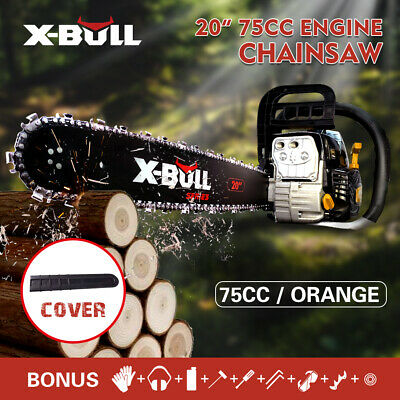 AU129 • Buy X-BULL 75cc Petrol Commercial Chainsaw 20  Bar E-Start Tree Pruning Top Handle