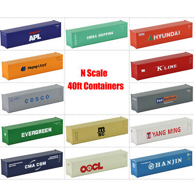 AU49.99 • Buy 40ft N Scale Containers Shipping 1:150 Freight Car Model Trains LOT C15008