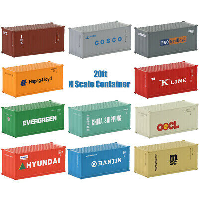 AU42.99 • Buy  1-5pcs N Scale 1:150 20ft Shipping Container Freight Cars Model Trains C15007