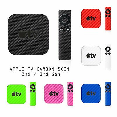 AU12.80 • Buy Apple TV 2 & 3 + Remote Controller 2nd 3rd Gen - Carbon Skin Wrap Cover Sticker