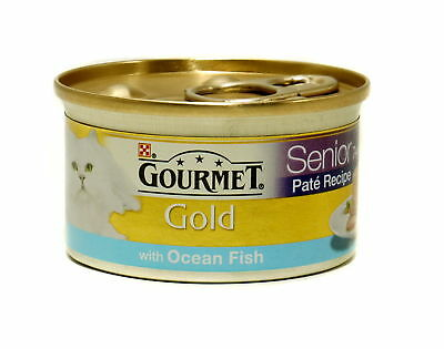 Gourmet Gold Senior Pate With Oceanfish 85g (Pack Of 12) • 13.29£