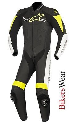$640.17 • Buy Alpinestars Challenger V2 Leather 1PC One Piece Motorcycle Race Suit Fluo