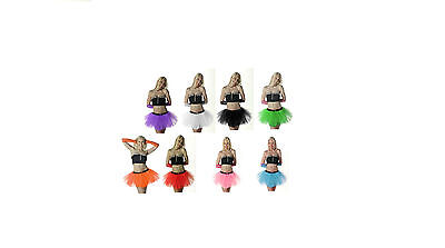 New Ladies Girls 3 Layer Crazy Chick Fancy Dress Hen Party Tu Tu Skirt Size 8-22 • 4.65£