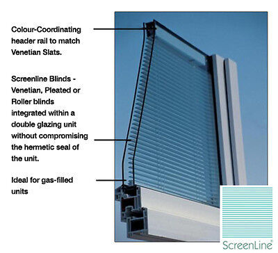 Blinds In Double Glazed Gas Filled Sealed Units **Made To Measure**  • 289£