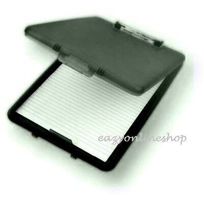 £6.22 • Buy Black A4 Plastic Compact Clipboard Paper Storage Box File Durable Waterproof New
