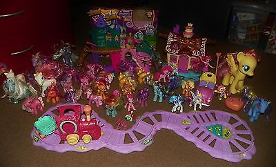 £126.22 • Buy Huge Lot MY LITTLE PONY Crystal Palace Castle PLAYSETS Ponies TRAIN Remote Car