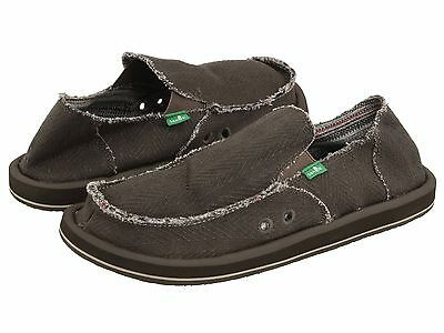 Men's Shoes Sanuk HEMP Slip On Loafers Sidewalk Surfers Loafers SMF1010 OLIVE • 37.16£