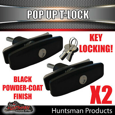 AU38 • Buy X2 Slim T Handle Pop Up Lock Latch Trailer, 4x4 Ute, Caravan, Canopy. Toolbox