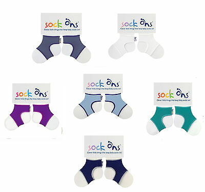 Baby Boys 3 PACK Sock Ons Sock Keepers Size 0-6 Months - Choose Your Colours  • 10.99£