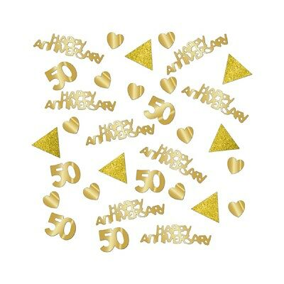 Golden Wedding Table Confetti 50th Anniversary Table Decorations Extra Large Bag • 2.99£
