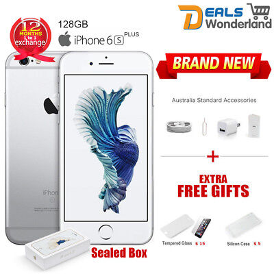 AU419.99 • Buy New Sealed Box Apple IPhone 6S Plus + 128GB Smartphone Mobile Phone Silver