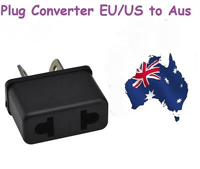 AU7.93 • Buy 1 Pc X USA US EU ADAPTER PLUG TO AU AUS AUSTRALIA TRAVEL CONVERTER PLUG PLASTIC