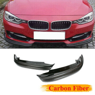 AU281.43 • Buy 2PCS Front Bumper Lip Splitter Fit For BMW F30 4-Door 2012-2015 Carbon Fiber