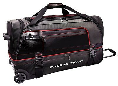 $69.99 • Buy Pacific Gear Drop Zone Black 30  Large Drop Bottom Wheeled Duffel Bag Roller