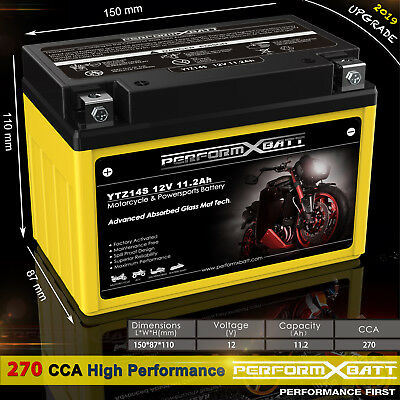 AU79.95 • Buy 270CCA YTZ14S 12V 11.2Ah Motorcycle AGM Battery > YT12A-BS YTZ12S MBTX9U YTX9-BS