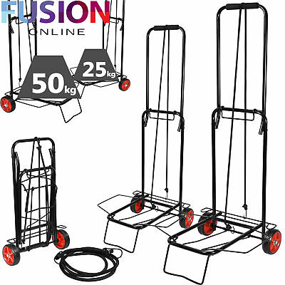 Foldable Luggage Carrier Cart With Bungee Cord Shopping Travel Sack Heavy Duty • 13.49£