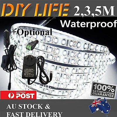 AU16.89 • Buy 2M 3M 5M 600 LED Strip Lights Cool Warm Natural White 12V Waterproof Car Camping