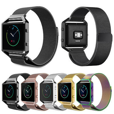 AU22.77 • Buy Magnetic Milanese Loop Stainless Steel Watch Band Strap + Frame For Fitbit Blaze