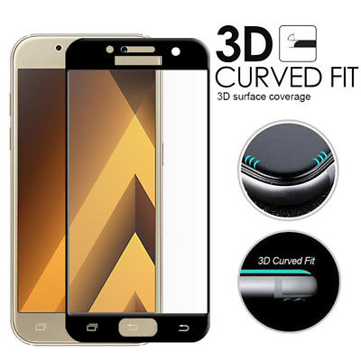 AU4.99 • Buy 9H Full Tempered Glass Screen Protector F Samsung Galaxy A5 A7 J8 J2 J5 J7 Pro