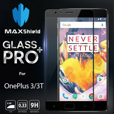 AU10.99 • Buy GENUINE MAXSHIELD TEMPERED GLASS SCREEN PROTECTOR FOR OnePlus Three 3 / 3T  5 5T