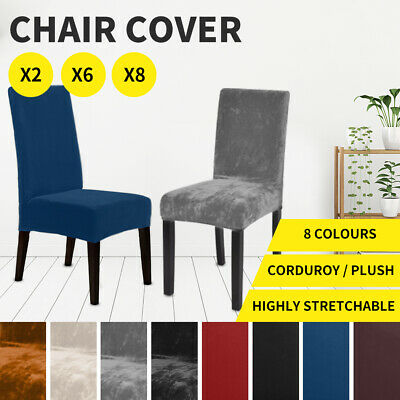 AU15.99 • Buy Dining Chair Covers  Banquet Seat Cover Stretch Slipcover Washable  Protector