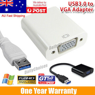 AU11.95 • Buy USB3.0 To VGA Video Graphic Cable Adapter External Display For Win 7/8