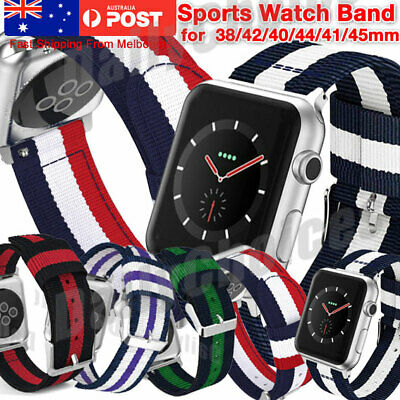 AU9.83 • Buy Woven Nylon Sports Strap Band For Apple Watch IWatch Serie 5/4/3/2/1