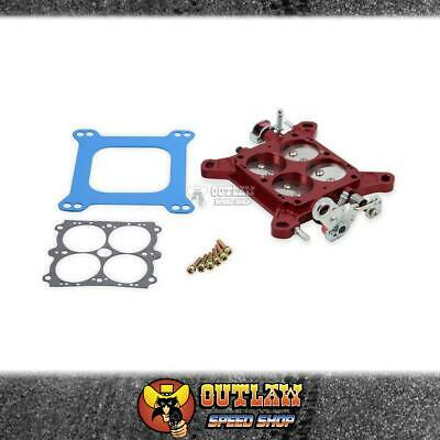 AU563.60 • Buy Quickfuel Carby Billet Throttle Body 1.11/16  4150/4500 Ss Plates Red - Q12-755