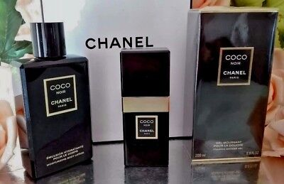 ❤️LOT CHANEL COCO NOIR EDP 1.7 Oz 50ml+body Lotion 6.8 Oz+shower Gel 6.8 Oz  • 250$