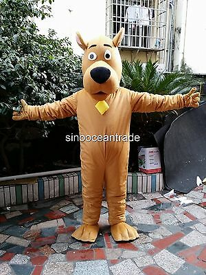 Scooby Doo Dog Adult Mascot Costume Fancy Dress Outfit UK • 144£
