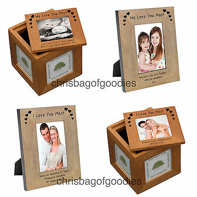 PERSONALISED I WE LOVE YOU MOST Novelty Keepsake Gifts Presents For Her Him Idea • 20.50£
